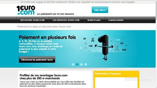 carte bancaire 1euro.com