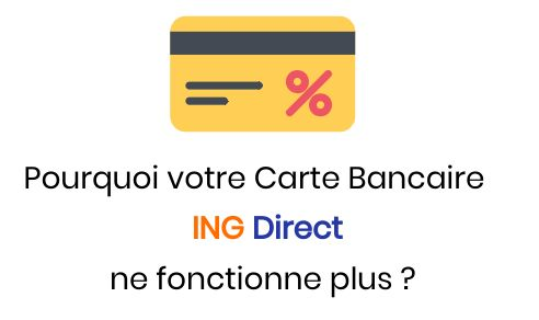 carte bancaire ing direct défectueuse