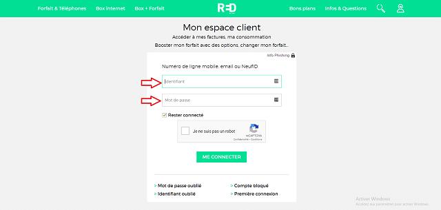 accéder espace client red by sfr