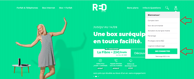 se connecter compte red by sfr
