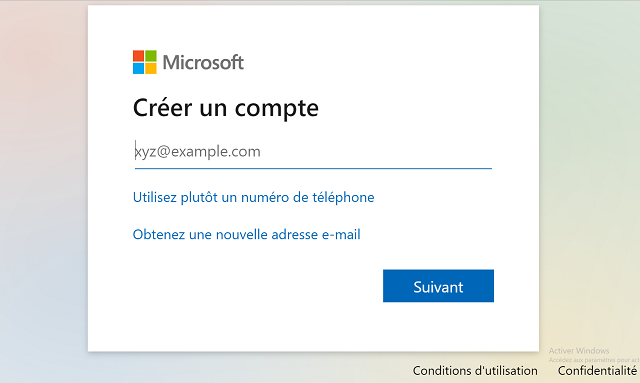 creer compte outlook