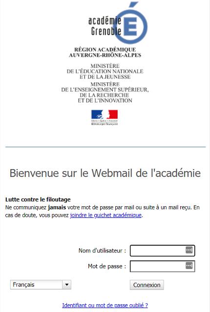 se connecter webmail grenoble